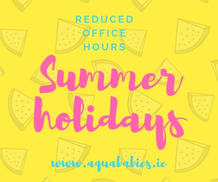 reduced office hours for Summer